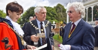 Coury 31 Lord Mayot'and Consort Cllr Rory Gladden with David Rogan with tthe VC