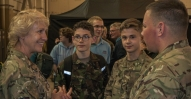 Air Cdre with Staff and Cadets