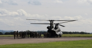 Cadets Boarding a Chinook