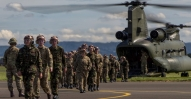 Cadets Return After a Chinook Flight