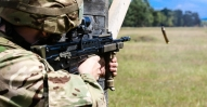 Images show Officer Cadets (OCdts) from Manchester/Salford & Liverpool University Officer Training Corps training on Exercise Annual Sword, Sennelager June/July 2017. The Annual Exercise sees the OCdts going through a live firing package, a field exercise, summer mess ball, Adventurous Training (AT) and cultural visits to Arnhem & Bergen/Belsen. Photo credits: Bombardier Murray Kerr RA