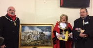 20171130-Gourley_VC_Commemoration_Painting, medal, Mayor of Wirral and Mr Colin GOurley-Adjt103-O