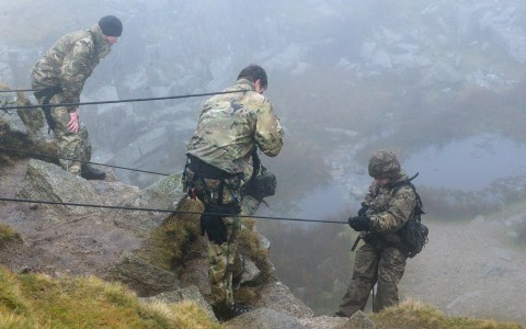 Royal Marine Reserve take on Foggin Tor