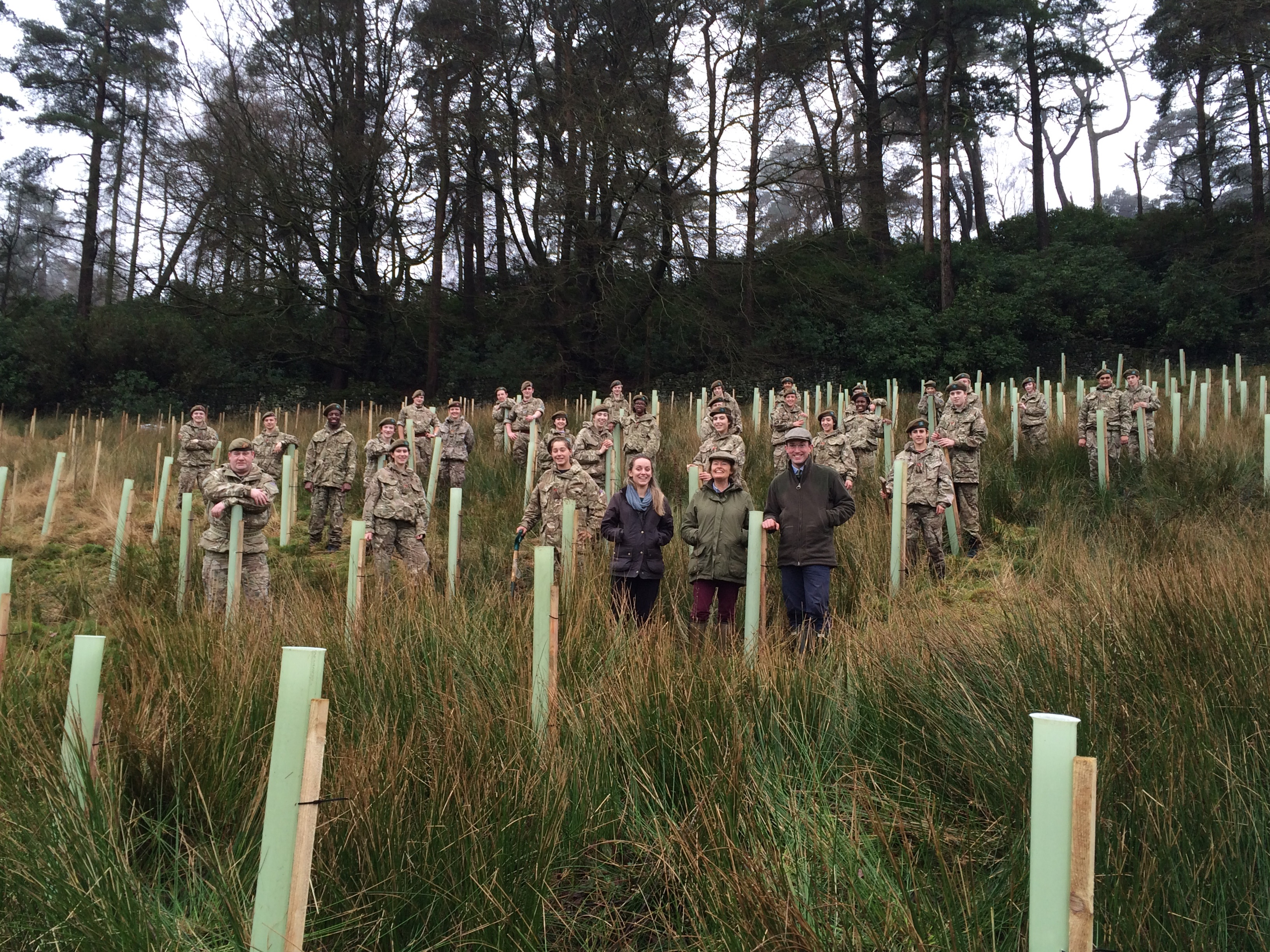 cadets plant trees in commemoration of wwi north west rfca